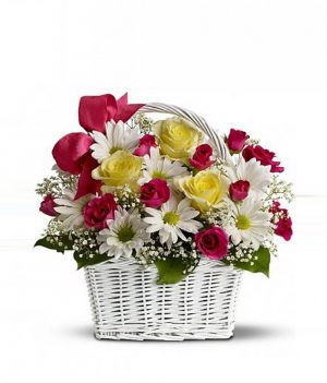 Daisy Flower Basket
