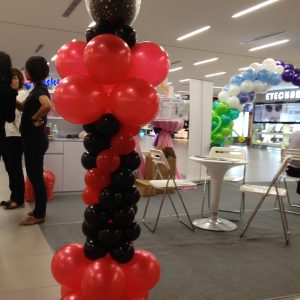 Red & Black Balloon Centerpiece
