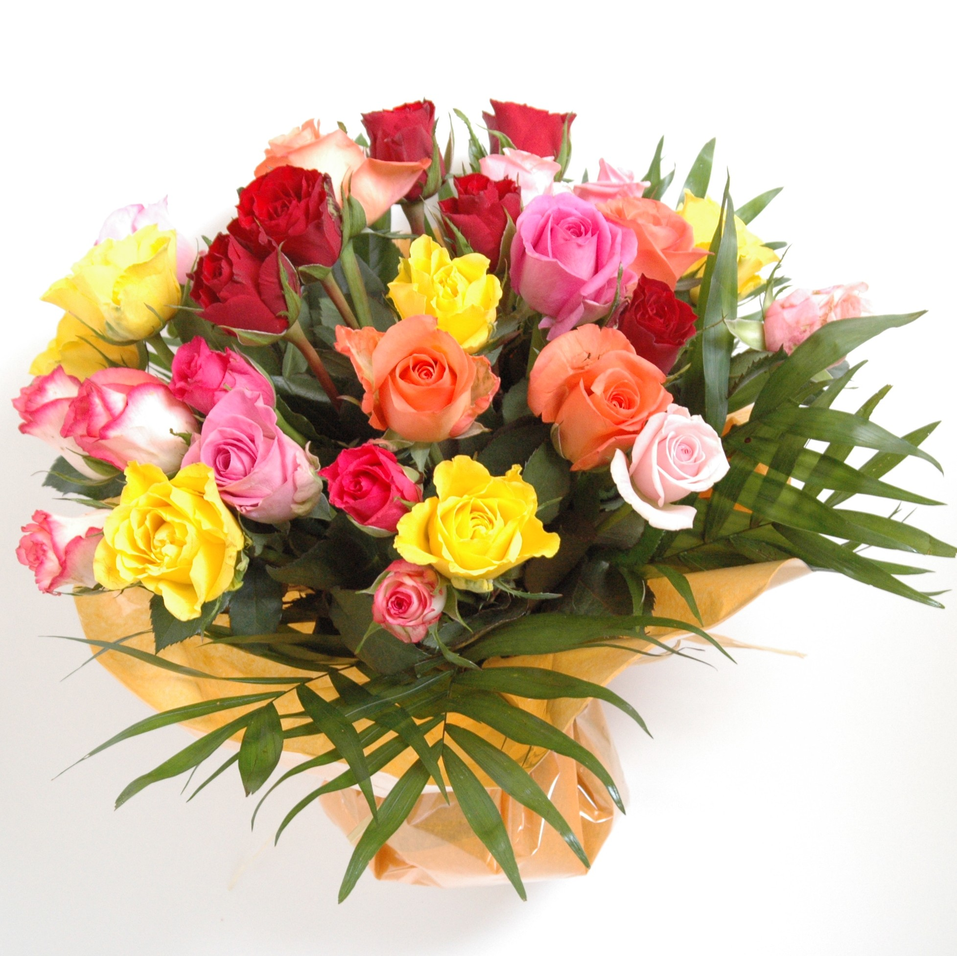 Rainbow cluster bouquet damas flowers for Bouquet de fleurs 70 ans