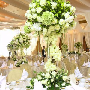 Wedding Flower Table Setting
