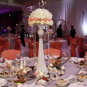 White & Orange Flower Centerpiece