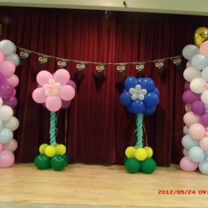 balloon center decor