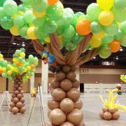tree natures balloons decor
