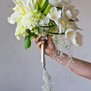 Clustered bridal bouquet