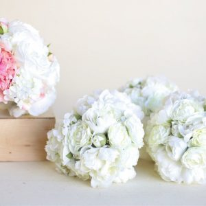 Silk bridal wedding bouquet