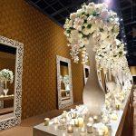 white tall beauty arrangement