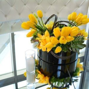 Yellow Chic Centerpiece