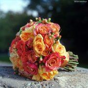 Pink & Orange Wedding Bouquet