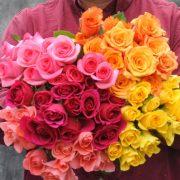 Multi Colored Rose Bouquet