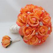 Silk Flower Bridal Bouquet
