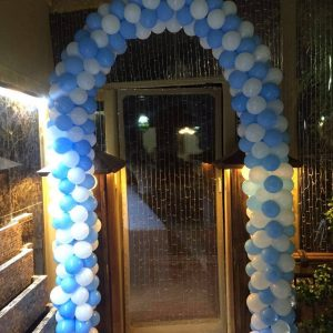 Blue Balloon Arch Decor