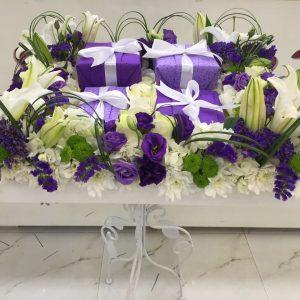 Violet Flower Centerpiece