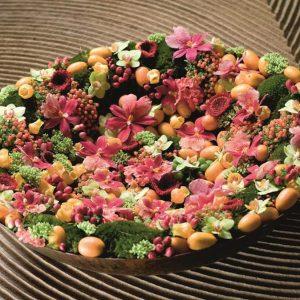 Vibrant Cheer Flower Basket