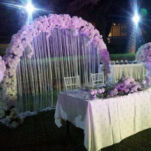 peachy night wedding decor