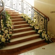 Fancy Stair Flower Decoration