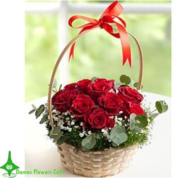 Amazing Red Rose Basket